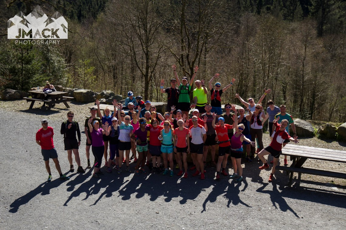 Run Coed Y Brenin Ultra Weekend group silly