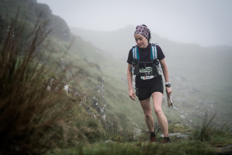 1 Carol Morgan on day two of the Berghaus Dragon's Back Race - photo Ciancorless.com