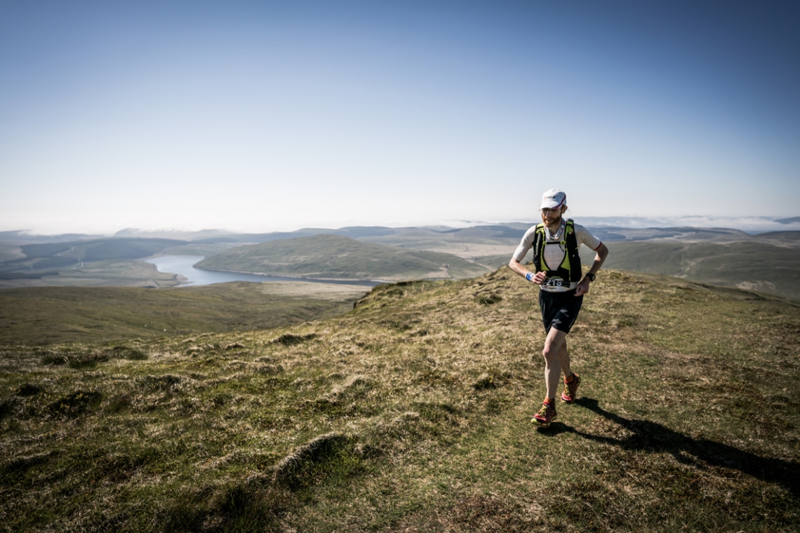 1 Marcus Scotney ran a strong race on day three of the Berghaus Dragon's Back Race - photo Ciancorless.com