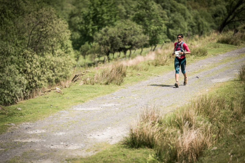 1 Sabrina Verjee suffered in the heat on day four of the Berghaus Dragon's Back Race - photo Ciancorless.com
