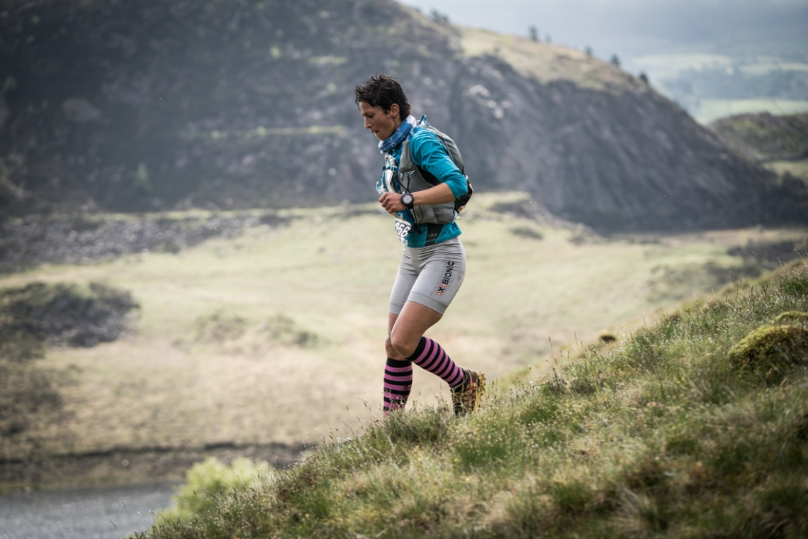 2 Sabrina Verjee in action on day two of the Berghaus Dragon's Back Race - photo Ciancorless.com