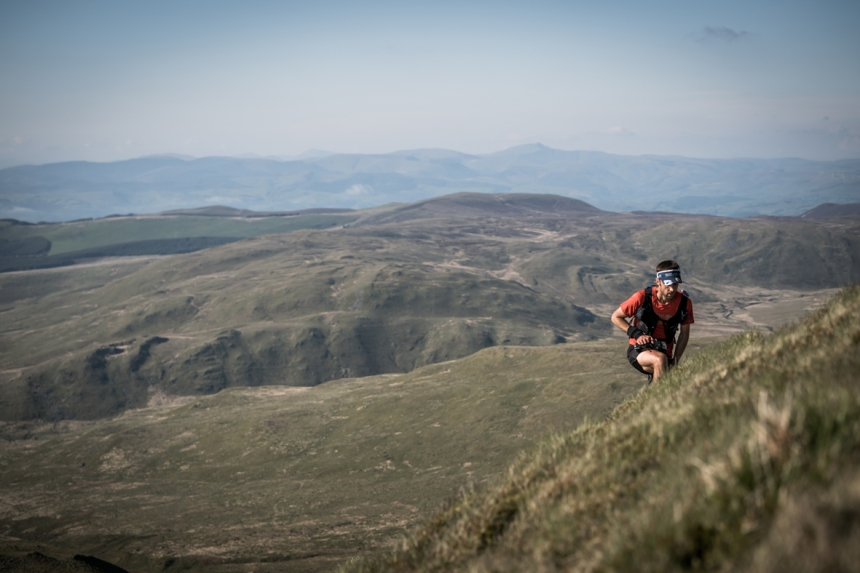 3 Jez Bragg climbs on day three of the Berghaus Dragon's Back Race - photo Ciancorless.com