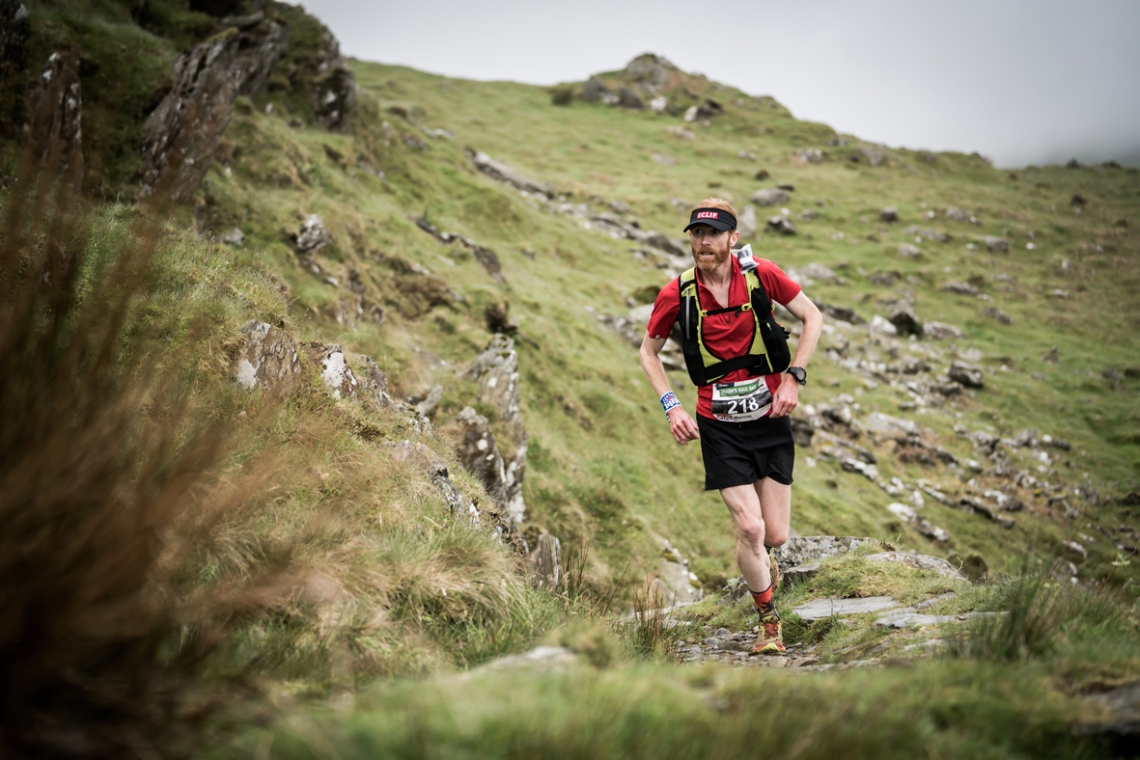 3 Marcus Scotney running well on day two of the Berghaus Dragon's Back Race - photo Ciancorless.com