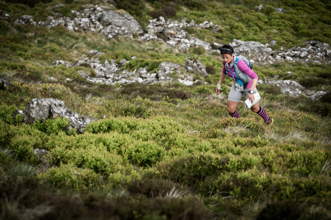 4 Sabrina Verjee in action on day three of the Berghaus Dragon's Back Race - photo Ciancorless.com
