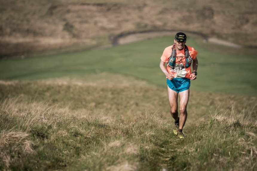 5 Jim Mann pushes the pace on day four of the Berghaus Dragon's Back Race - photo Ciancorless.com