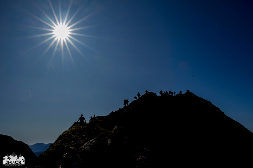Ring of Steall ridge starburst